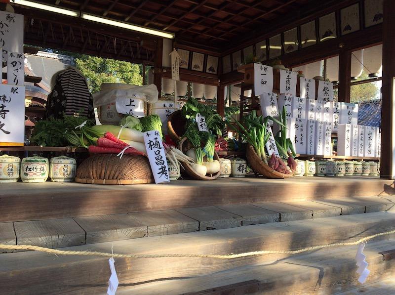 Ofrendas del Hatsumode en el primer día del año