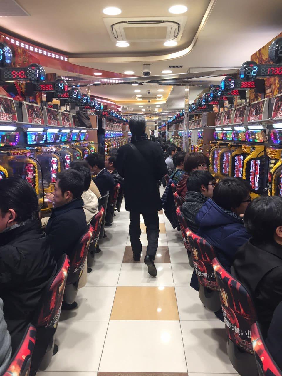Centro de Pachinko en Japón