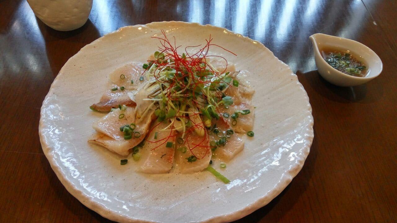 Sashimi de pez mantequilla de Takayama