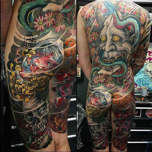 Tatuaje japones: Tatuaje japonés de cuerpo entero