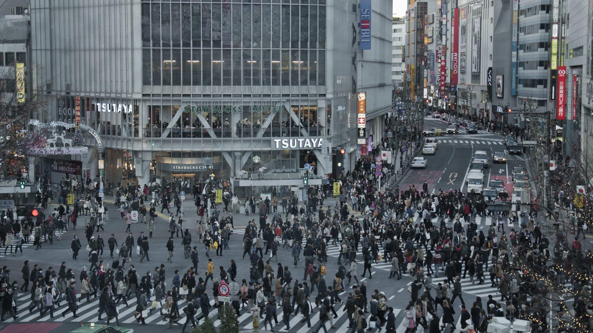 Cruce del barrio de Shibuya en Tokyo