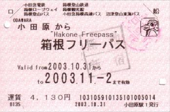 JR Hakone Free Pass
