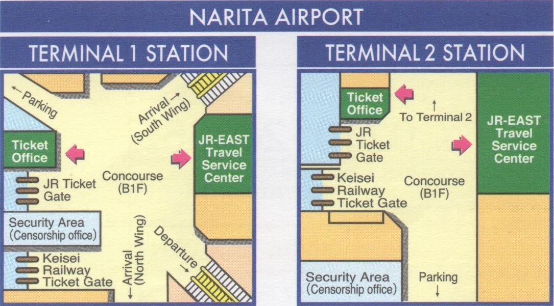 Oficina JR en el Aeropuerto de Narita