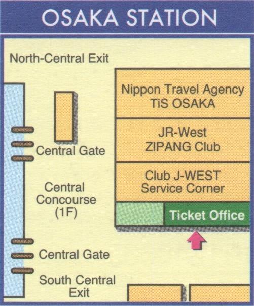 Oficina JR en la estación de Osaka