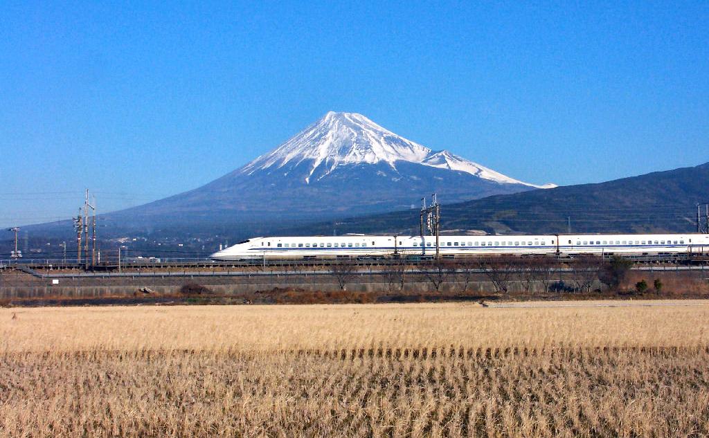 Monte Fuji: Tren bala