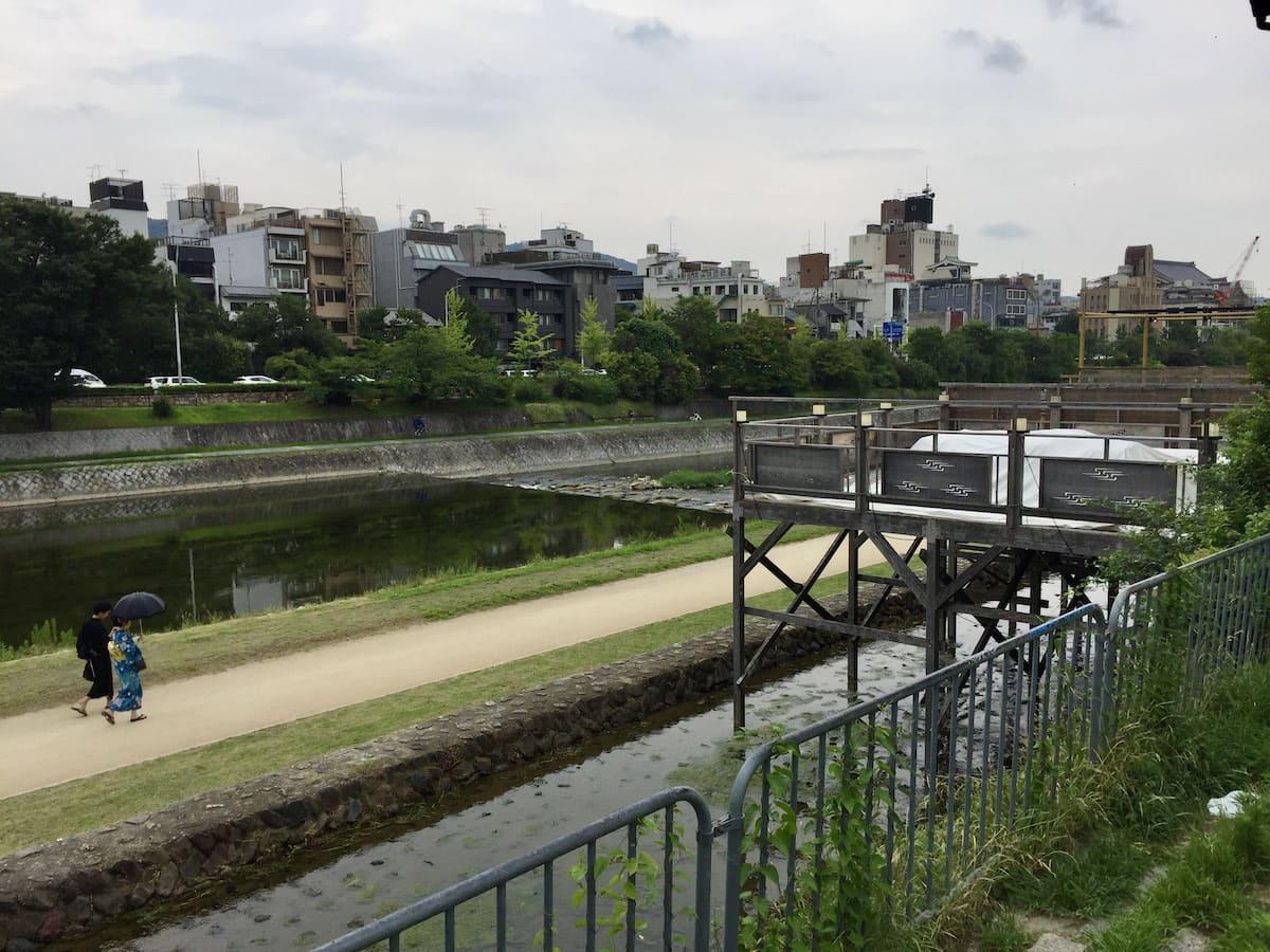 Río Kamo desde Pontocho