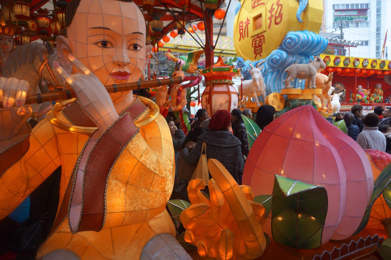 Figura del Festival de Faroles de Nagasaki
