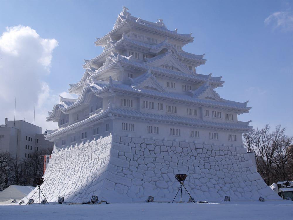 Escultura de hielo del Festival de Nieve de Sapporo