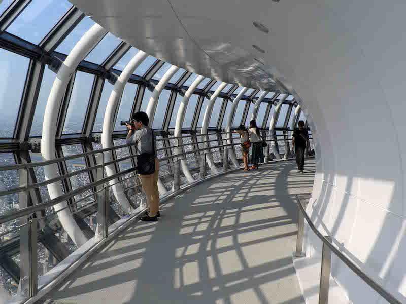 Observatorio en forma de tubo del Tokyo Skytree