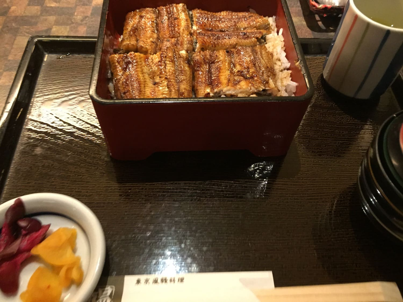 Unadon del restaurante Edogawa de Kyoto