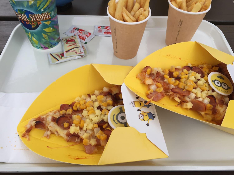 Pizza de Los Minios del Universal Studios Japan
